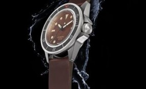 UNIMATIC 潛水手表具有獨特的古銅色表盤和觸感黑色表圈