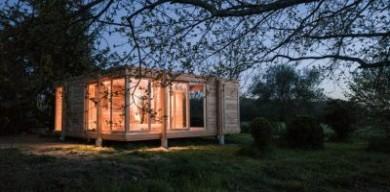 法國鄉村木制度假屋,溫暖而寧靜
