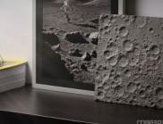 """超逼真的""""月球表面""""桌面摆件,圆你太空梦"""