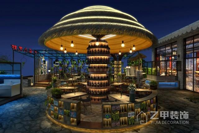 成都餐厅设计|成都小龙虾店装修|特色餐厅装修设计案例|院坝小龙虾装修设计