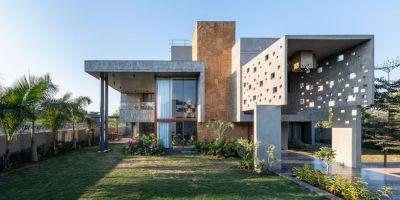 安靜的幾何空間:印度像素屋的相關圖片