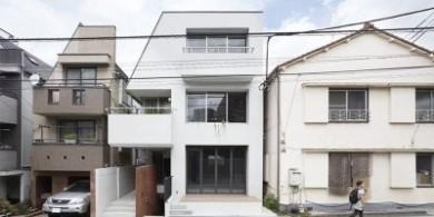 住宅+商店+畫廊,這座日本三層建筑設計太實用了