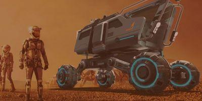 2040年,模塊化的火星空間飛行器將面的相關圖片