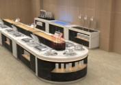 单位食堂自助餐台效果图
