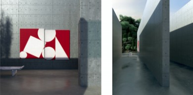 虛擬建筑世界中的數字藝術展作品欣賞