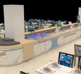 海洋风格自助餐台