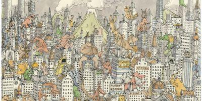 寫生簿中奇幻的涂鴉藝術,天馬行空的想象令人稱奇
