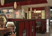 西安大雁塔附近特色餐厅装修效果图和