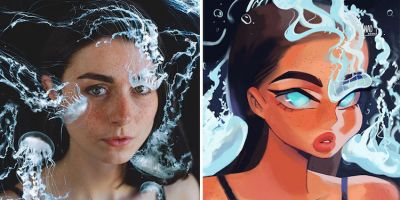 攝影師邀請16位藝術家以個人風格重塑人物肖像,結果太神奇了!