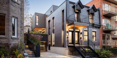 复式公寓改造成大气的联排别墅,低调的相关图片