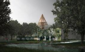 NRAV建筑师事务所的树屋方案修复了一座法国城堡的废墟