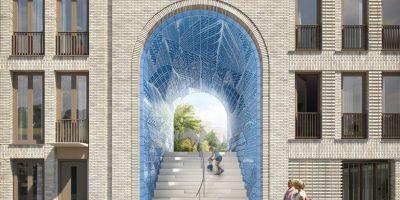 3D打印的瓷磚覆蓋了荷蘭住宅建筑的大的相關圖片