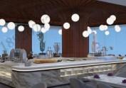 酒店自助餐桌展示台 制冷发光冰池定