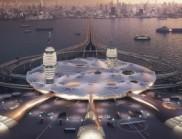 """建筑师为商业空间旅游设计未来主义的""""航天城市"""""""