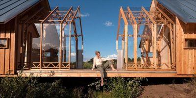 这是一个可以滑动的小木屋,给你亲近的相关图片