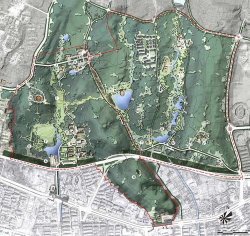 南京中山陵景区规划新建3大公园-行业资讯-中国设计图片