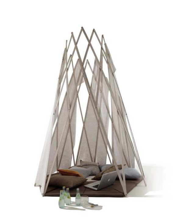 mikasi自制印第安小帐篷