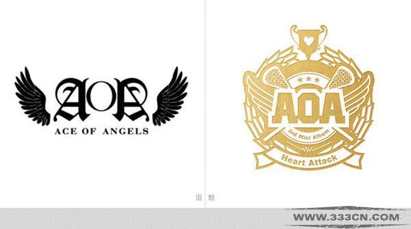 韩国aoa女子音乐组合全新的视觉形象logo