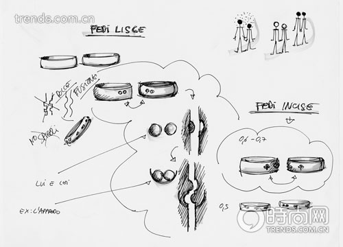 珠宝设计师设计手稿解密